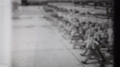 WWII - Bad Film Gate - Soldiers Walking - stock footage