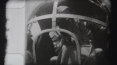WWII - Pilot in Cockpit - stock footage