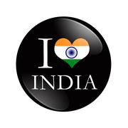 I love india button Stock Illustration