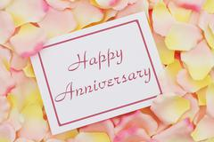 happy anniversary card - stock photo