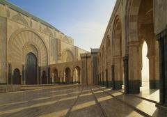 hassan ii mosque, casablanca, morocco - stock photo