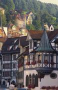 Stock Photo of tudor exterior of buildings in town of st gallen in switzerland