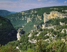 ardeche gorges, roussillon, france - stock photo