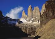 Stock Photo of rock formation at tierra del fuego natioanl park, chile, latin america