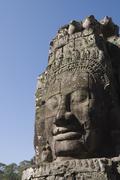 bayon temple, late 12th century, buddhist, angkor thom, siem reap, cambodia - stock photo