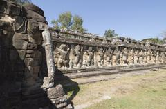 Elephant terrace, angkor thom, siem reap, cambodia Stock Photos