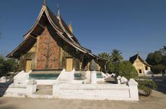 Wat xieng thong, luang prabang, laos Stock Photos