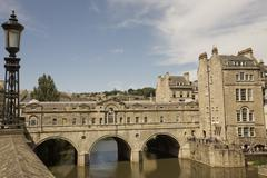 pulteney bridge, bath, unesco world heritage site, avon, england - stock photo