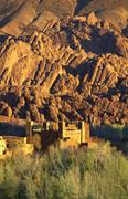 Ruin fortress, dades valley, morocco Stock Photos