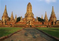 Phra nakhon si ayutthaya, wat chai wattanaram, thailand Stock Photos