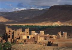 fort of ait benhaddou, ouarzazate, morocco - stock photo