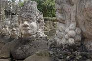 Stock Photo of southern causeway of angkor thom, flanked by gods