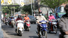 Motor Cycle Traffic Stock Footage