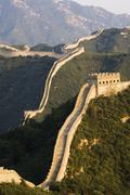great wall of china at badaling, first built during the ming dynasty - stock photo