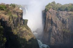 victoria falls, unesco world heritage site, zimbabwe, africa - stock photo