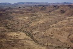 Aerial, damaraland, namibia, africa Stock Photos