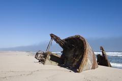 Ship wreck, skeleton coast, namibia, africa Stock Photos