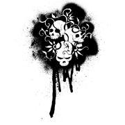 Cartoon grafiti skulls pattern Stock Illustration