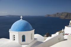 oia, santorini (thira), cyclades, greek islands, greece, europe - stock photo