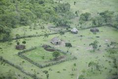 Masai village, masai mara national reserve, kenya, east africa, africa Stock Photos