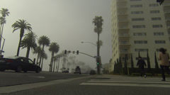 Streetview at california blvd. Stock Footage