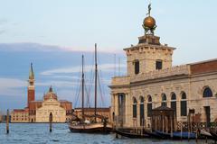 Dogana di mare and san giorgio maggiore from the grand canal, venice, unesco  Stock Photos