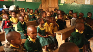 Stock Video Footage of African school children recite alphabet in english in Tanzania.