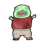 Cartoon mutant boy Stock Illustration