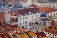 croatia, dalmatia, dubrovnik, old town (stari grad), church of st. blaise rig - stock photo