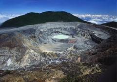 Poas volcano, poas volcano national park, costa rica Stock Photos