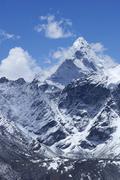 Summit of ama dablam from kala patthar, sagarmatha national park, unesco worl Stock Photos