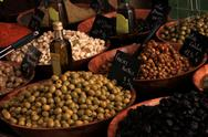 Stock Photo of olives at a french market