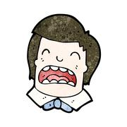 cartoon upset boy - stock illustration