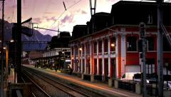 Time lapse: swiss train station Stock Footage