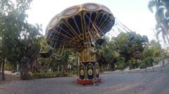 Carnival swing ride Stock Footage