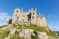 Stock Photo of View from St Michaels Mount Marazion Cornwall England UK medieval castle