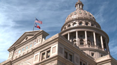 Stock Video Footage of Texas Capitol Dome 24fps HD
