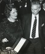 Margaret Thatcher, Prime Minister, award Stock Photos