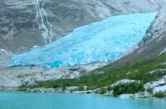 view to nigardsbreen glacier (norway) - stock photo