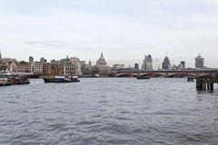 Thames river london Stock Photos
