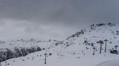 Ischgl ski resort lift station time lapse 4K Stock Footage