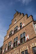 Traditional gable of an old house in xanten Stock Photos