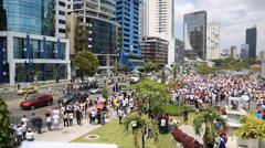 Venezuelan Protesters on the Streets of Panama City, Panama - stock footage