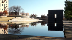 Oklahoma City National Memorial Reflecting Pool Stock Footage