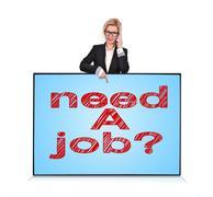 plasma panel with need a job - stock illustration