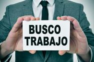 Stock Illustration of busco trabajo, looking for a job in spanish