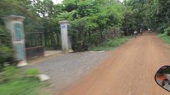 Khmer family on bikes Stock Footage