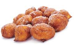 bunyols de quaresma, typical pastries of catalonia, spain, eaten in lent - stock photo