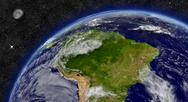 Stock Illustration of south america on planet earth