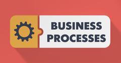 Business Processes Concept litteä muotoilu. Piirros